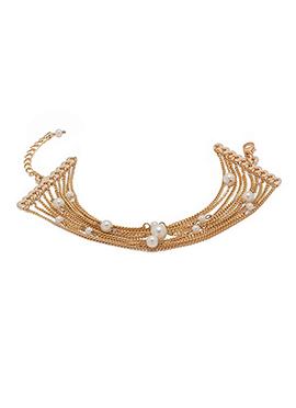 Golden N Off white Bracelet