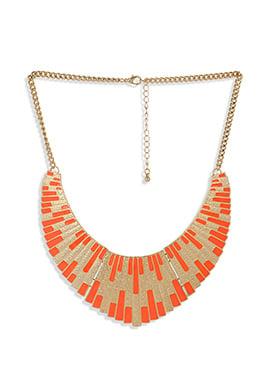 Golden N Orange Colored Neckpiece