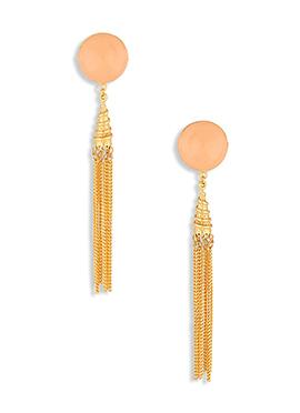 Golden N Peach Colored Danglers