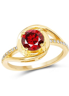 Golden N Red Ring