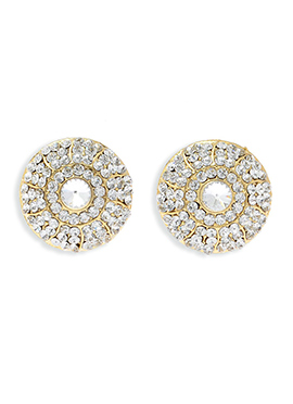 Golden N White American Diamond Studs