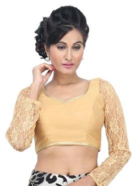 Golden Net N Art Silk Blouse