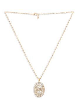 Golden Oval Shape Stone Pendant