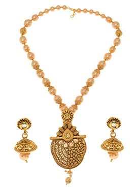 Golden Plated Kundan Necklace Set