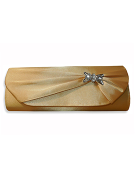 Golden Satin Clutch
