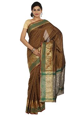 Golden Shade Banarasi Art Silk Saree