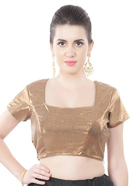 Golden Shimmer Georgette Blouse