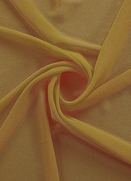 Golden Yellow Georgette Fabric
