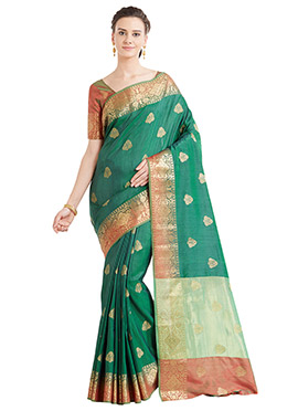 Green Art Benarasi Silk Saree