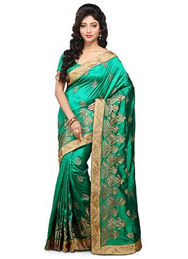 Green Art Dupion Saree