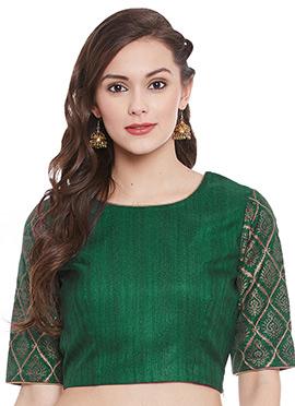 Green Art Dupion Silk Top