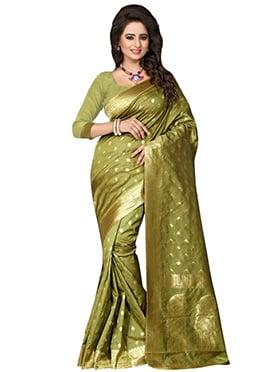 Green Art Mysore Crepe Silk Saree