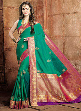 Green Art Raw Silk Saree