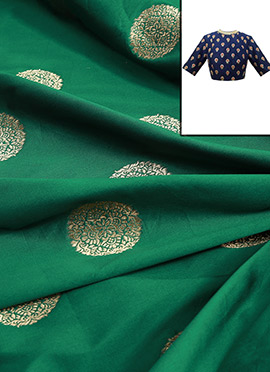 Bottle Green Art Silk Blouse