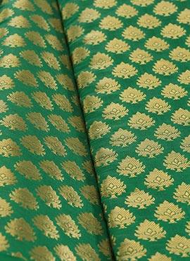 Green Art Silk Brocade Fabric