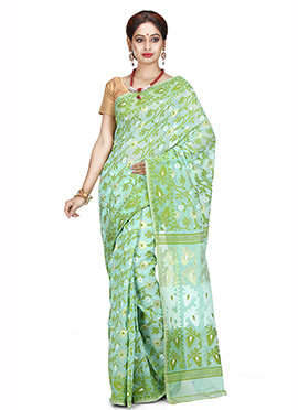 Green Art Silk Cotton Saree