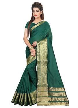 Green Art Silk Cotton Saree