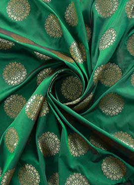 Green Art Silk Fabric