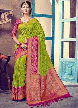046fbe448cc Ethnic fashion online - Engagement Art Silk Women Clothing Sarees