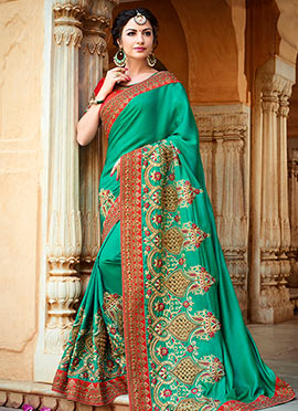 Green Art Silk Saree