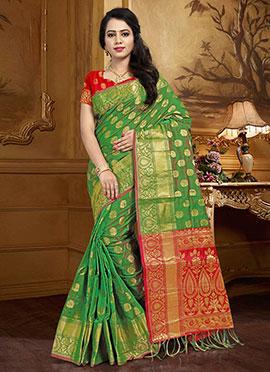 Green Art Silk Saree