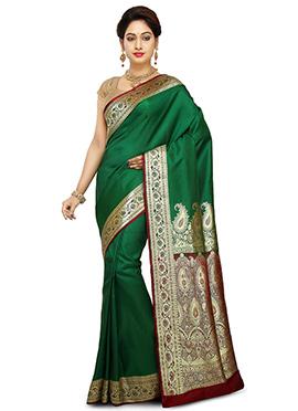 Green Benarasi Pure Handloom Silk Saree
