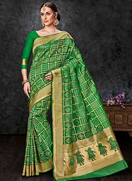 Green Benarasi Silk Saree