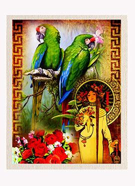 Green Birds Canvas
