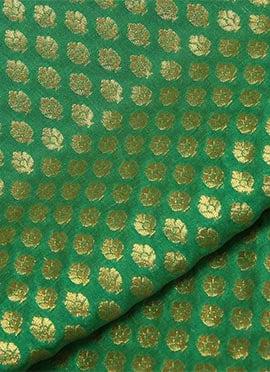 Green Brocade Fabric