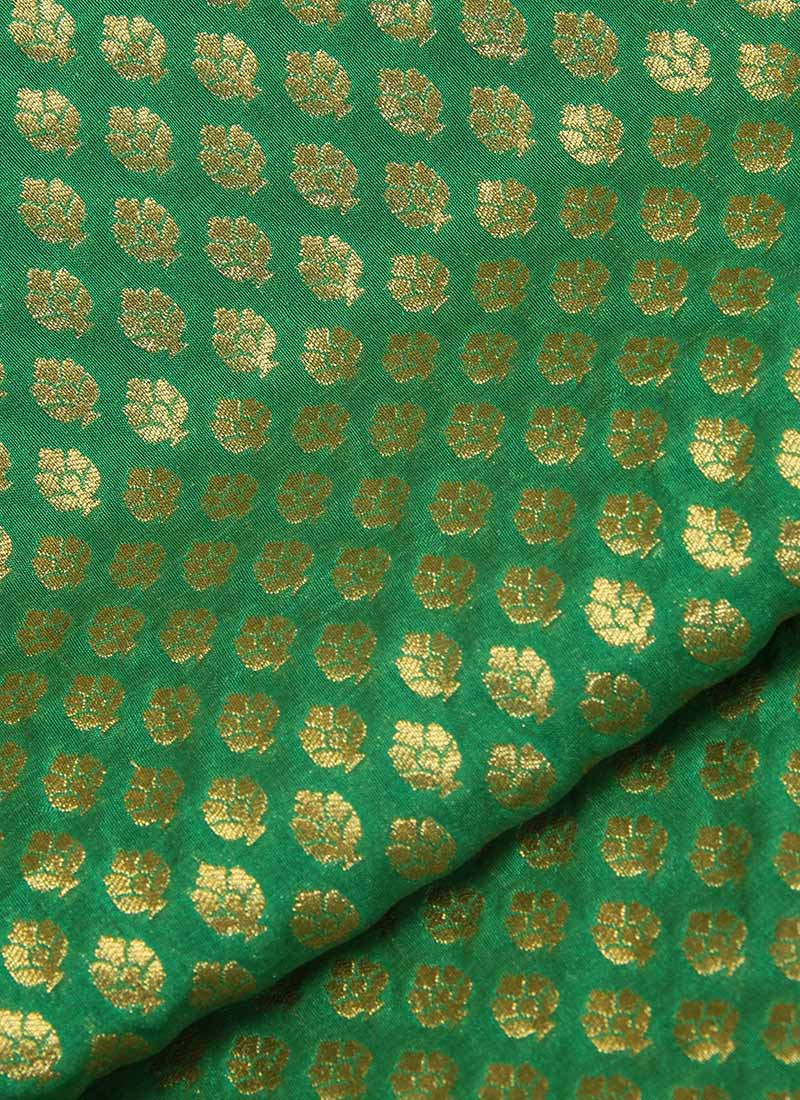 Buy Green Brocade Fabric Brocade Blended Patterned