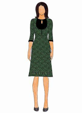 Green Brocade Knee Length Kurti