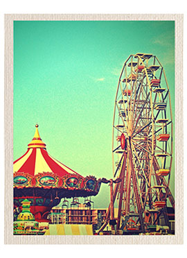 Green Carnival Canvas