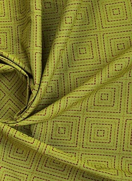 Green Cotton Brocade Fabric
