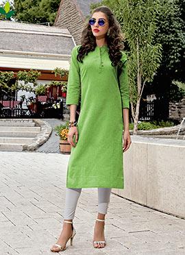 Green Cotton Kurti