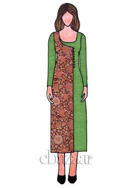 Green Cotton Long Kurti