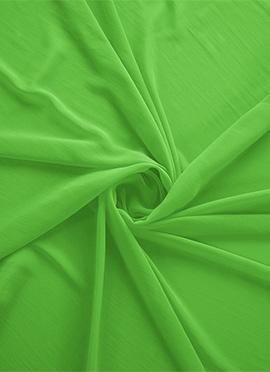 Green Flash Georgette Fabric