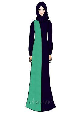 Green Georgette Abaya