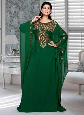 Green Georgette Fustan