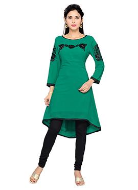 Green Georgette Kurti
