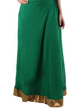 Green Georgette Skirt