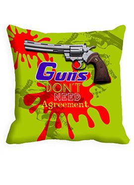 Green Guns Agreement Cushion Cover