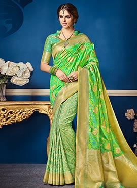 Green Art Benarasi Silk Saree