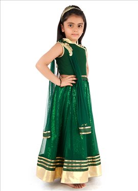 Green Kidology Lehenga Choli
