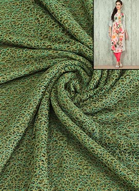 Green Lace Dress Material