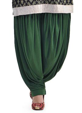 Green Lycra Patiala Pant