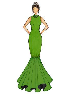Green Mermaid Gown