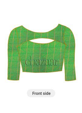 Green Mogra Silk Blouse