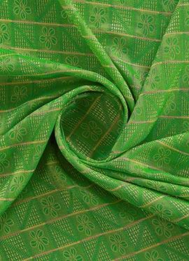 Green Mogra Silk Fabric