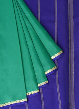 Green Mysore Pure Silk Saree