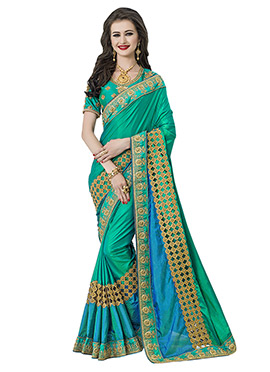 Green N Blue Art Silk Saree